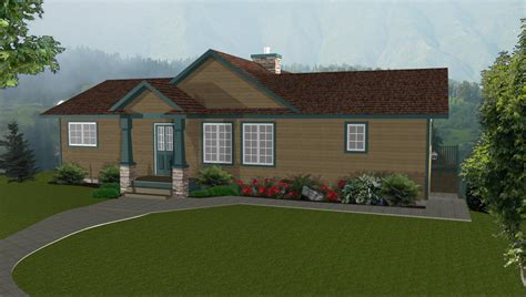 walkout basement designs ranch house plans by edesignsplansca 5 simple house