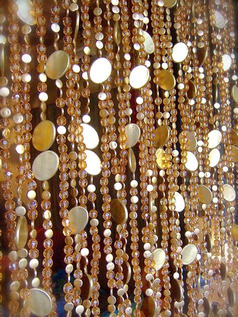 gold bead curtain new chagne acrylic crystal gold disc bead curtain