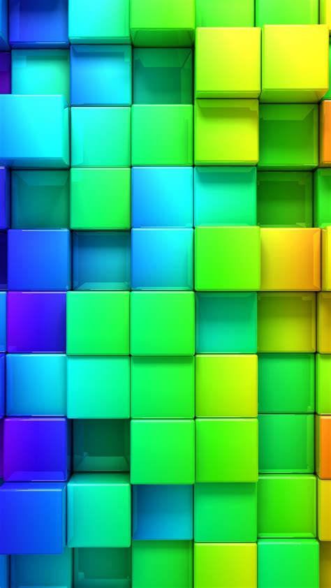 hd wallpaper rainbow color  blocks graphics wallpapersbyte