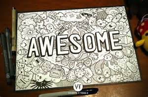 awesome doodle ideas doodle awesome monsters by vicenteteng on deviantart