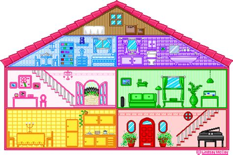 cartoon doll house pixel doll house by annortha on deviantart