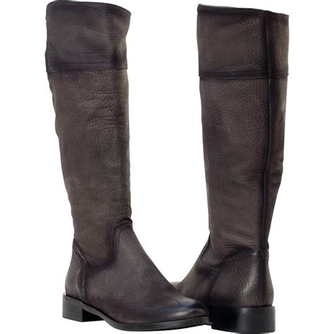 jodie grey knee high leather boots paolo shoes