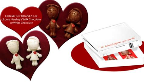 Wii Belong Together Chocolate Miis For Valentines Day by Wii Belong Together You And Mii Marketingfacts