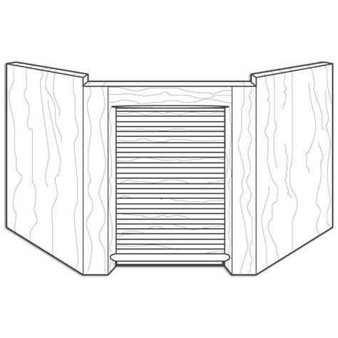 Appliance Garage Kit by Corner Unit Appliance Garage Kits Walzcraft