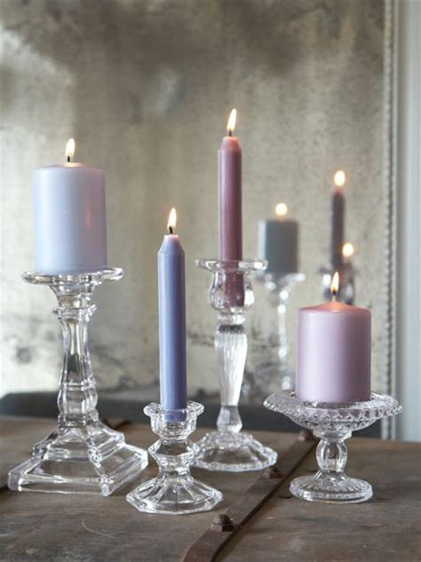 Glass Candle Pillars Glass Pillar And Dinner Candle Holder