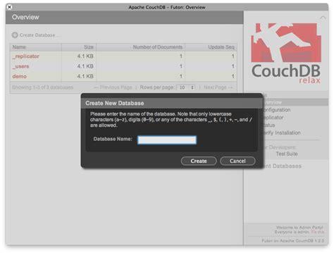 Futon Couchdb by Futon Couchdb Roselawnlutheran