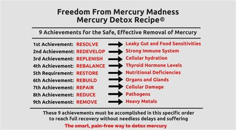 Ways To Detox Mercury From The by The 9 Achievements The Safe Free Way To Detoxify