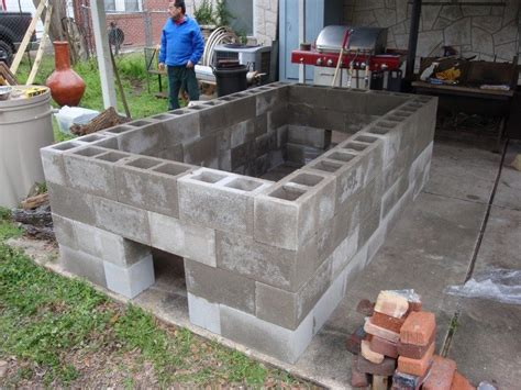 Portable Kitchen Islands build a cinder block pit smoker for 250 the owner
