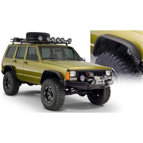 Jeep Xj Flat Fender Flares 10922 07 Bushwacker Flat Style Fender Flares Jeep