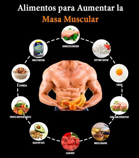 conoce los alimentos  aumentar la  muscular  los