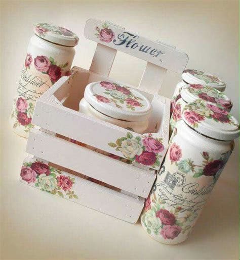 tutorial decoupage shabby chic pin by viviana ortega on frascos pinterest decoupage