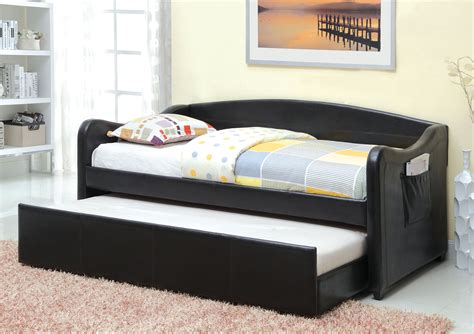 modern day bed furniture of america triss modern twin daybed with trundle