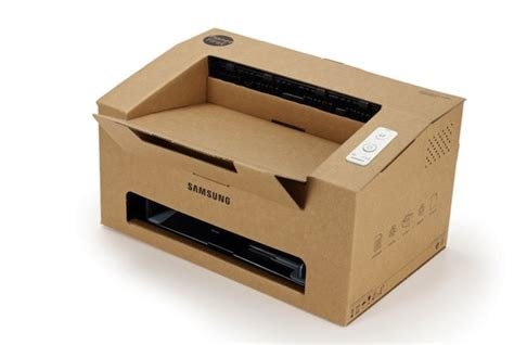 Origami Printer - samsung invents a clever cardboard printer that folds up
