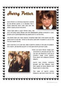 harry potter worksheet free esl printable worksheets