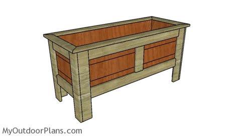 planter box plans cedar planter box bench plans image mag