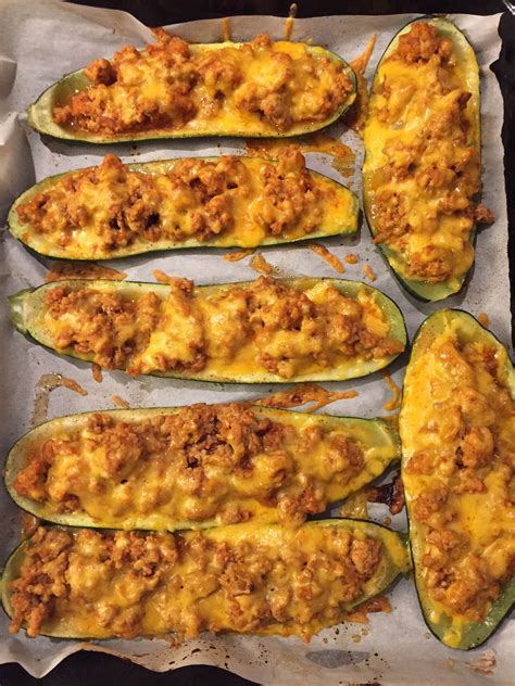 stuffed zucchini boats ground beef and rice stuffed baked zucchini boats with ground meat and cheese
