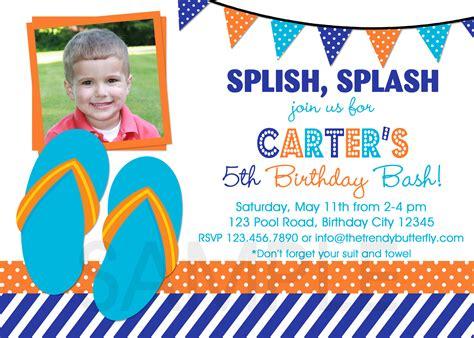 printable birthday invitations for a boy printable birthday party invitations summer themed invite