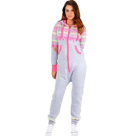 Jumpsuit Playshot hooded print onesie jumpsuit womens playsuit nightwear one ebay