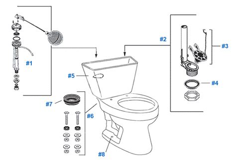 mansfield toilet diagram mansfield easton toilet replacement parts
