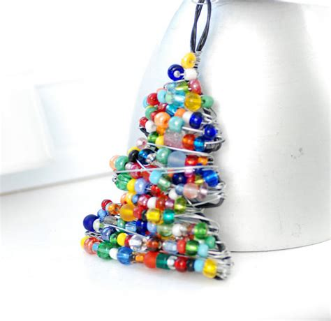 christmas ornament beaded christmas tree wire by