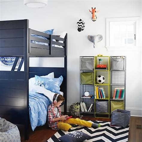 land of nod bunk beds uptown bunk bed midnight blue in beds the land of nod kids rooms pinterest