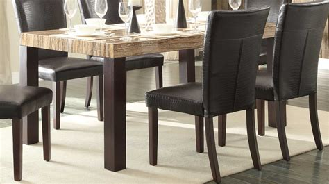 furniture faux marble top dining table equipped with homelegance robins dining table dark cherry faux
