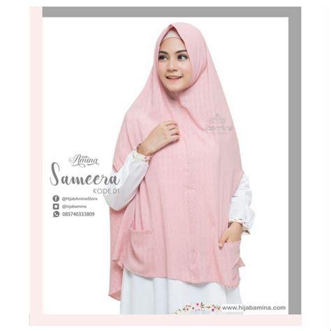 Khimar Sameera Dusty Pink Zelena khimar sameera 01 dusty pink hijabamina
