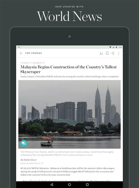 wsj app for android the wall journal news android apps on play
