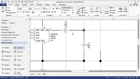 visio circuit diagram time lapse simple cell phone jammer