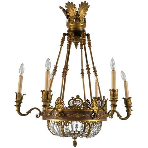 Lighting And Chandeliers 19th Century Empire Chandelier At 1stdibs