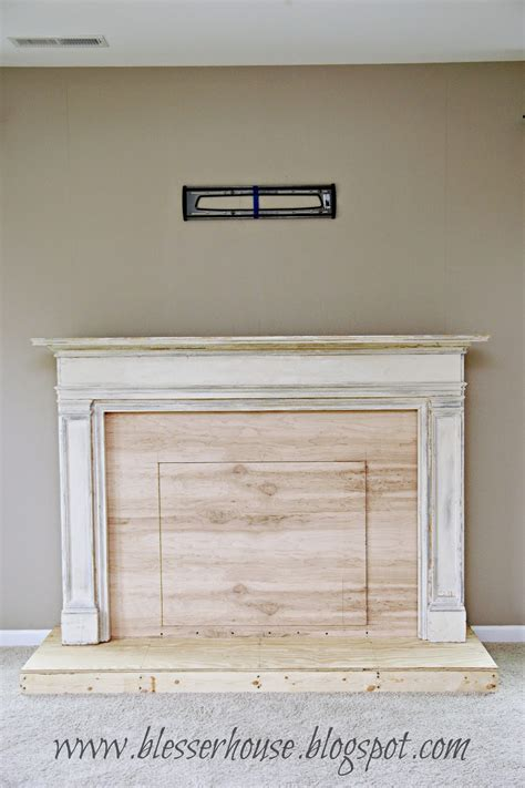 fireplace faux remodelaholic how to build a faux fireplace and mantel