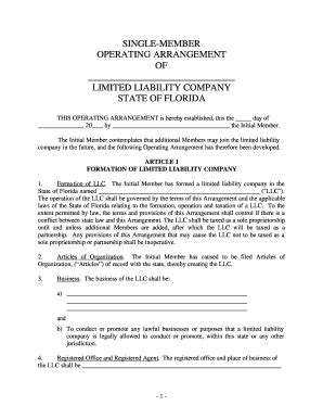florida llc operating agreement sle 29 printable llc operating agreement forms and templates