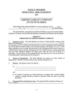 florida llc operating agreement template llc operating agreement forms and templates fillable