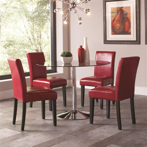 coaster clemente 5 table chair set value