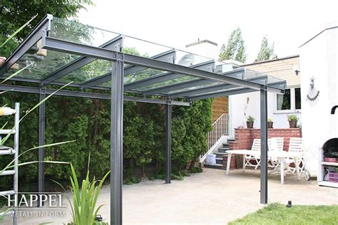 carport metall glasdach preis carports garagen happel metallbau