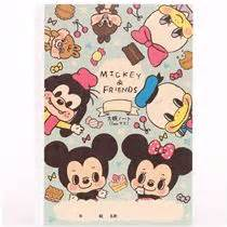 Blus Mickey Import pink blue mickey and friends notebook exercise book japan memo pads stationery shop modes4u