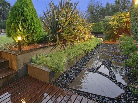 landscaped garden ideas landscaped garden design using pavers with deck ground
