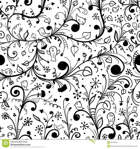 black and white bird pattern simple black and white flowers patterns www pixshark com