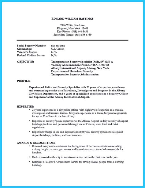 Correctional Officer Sample Resume Example