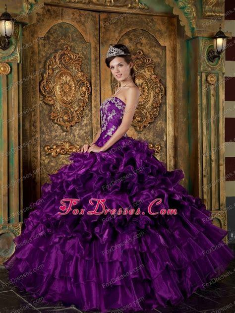 quinceanera themes purple quinceanera themes 2013 purple strapless ruffle