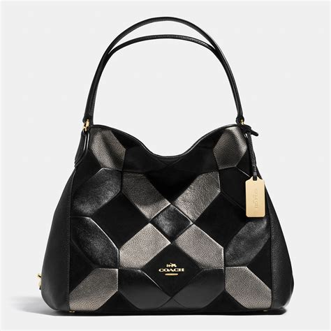 Coach Patchwork Bags - lyst coach edie shoulder bag 31 in patchwork leather in