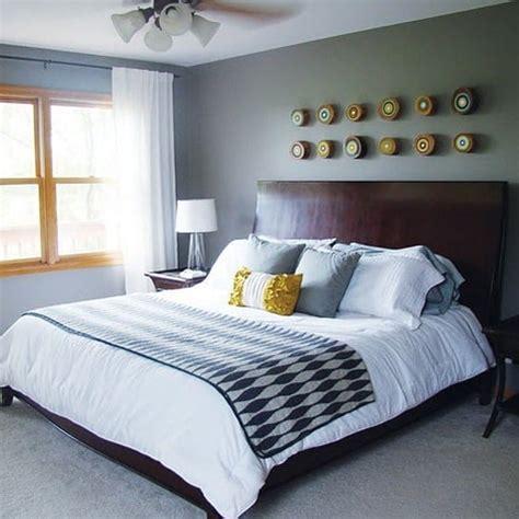 gray  yellow bedroom decor popsugar home