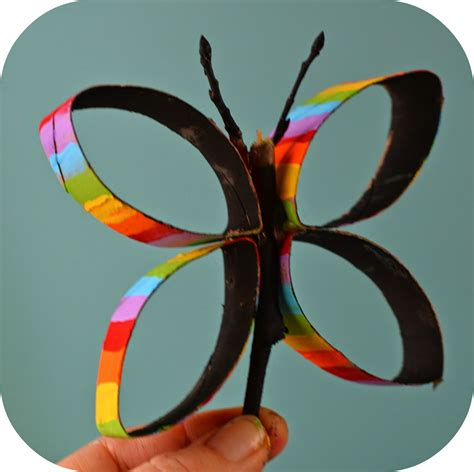toilet paper roll butterflies kidscraft twig and
