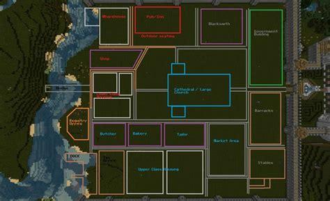Village Layout Minecraft | minecraft medieval town layout qph0szib jpg 1800 215 1100