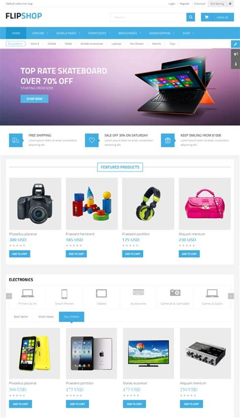 flipshop ecommerce joomla theme free download