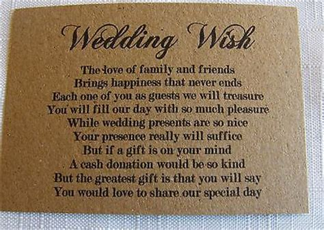 How To Ask For Gift Cards On An Invitation - wedding gift poem for dollars imbusy for