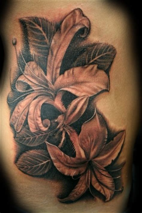 grey flower tattoo designs tatto black and grey tattoos style design photos