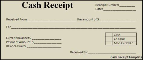 Paid Receipt Template Word by Receipt Template Free Formats Excel Word