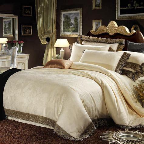 cream colored comforter cream colored luxury jacquard silk cotton lace bedding