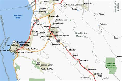 california map monterey county description of bike rides in monterey county